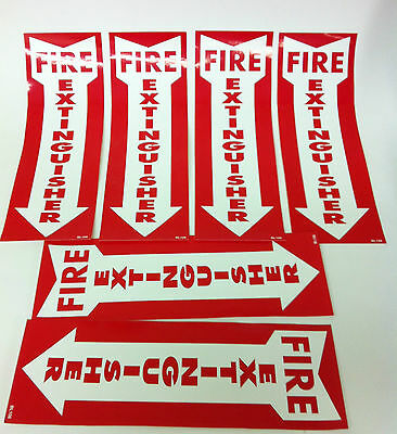 Six Brand New 12X4 Fire Extinguisher Sticker Signs *****free Shipping!!!!!!*****