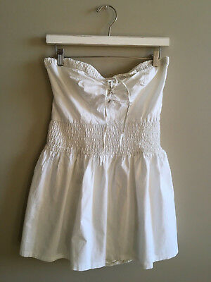 Vintage 1950s Swimsuit SEA GODDESS White Cotton Bathing Suit Halter SkirtZipper