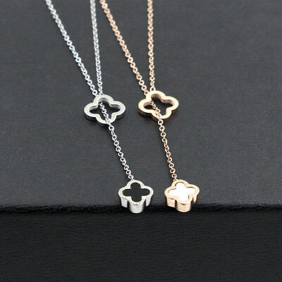 Quality fashion Jewelry Stainless Steel Four leaf clover pendant Chain Necklaces