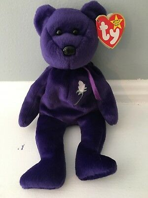 185e682bfff ty beanie babies rare original purple princess diana great condition  tagattached