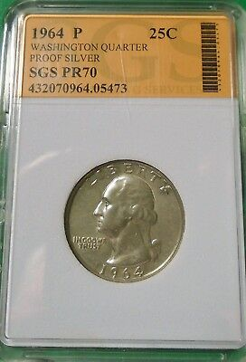 Nice 1964 Washington Quarter 90% Silver Proof # 05473 As Pictured
