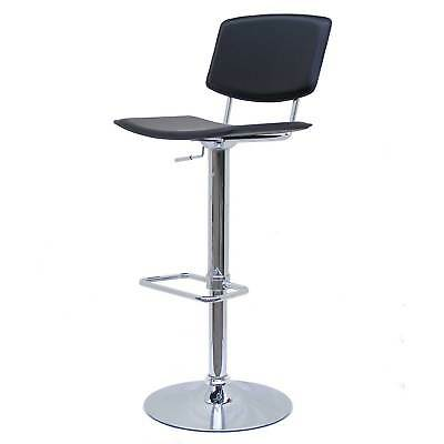 Design Tabouret De Bar A11 Noir Chrome Chaise Tournante Salon Rembourr