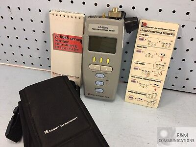 Lp-5025C Gn Nettest Fiber Optic Power Meter With Protective Case