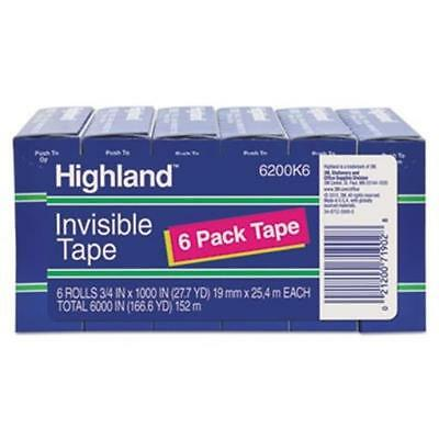 3M-Commercial Tape Div 6200K6 Invisible Permanent Mending Tape - Clear