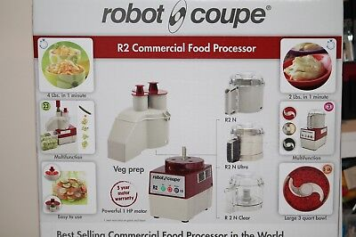 Robot Coupe R2N CLR Commercial Food Processor, New Still in Box, 3QT, 2 in 1