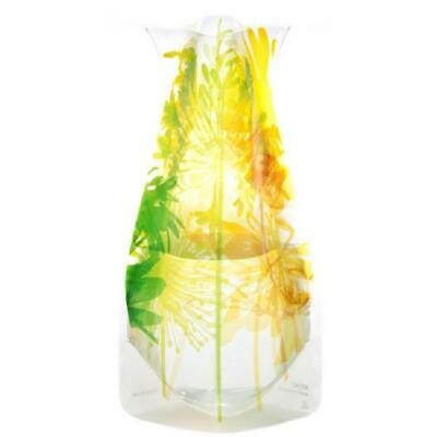 Modgy 66124x2 Myvaz Expandable Flower Vase Boom Bloom Yellow-Pack of 2