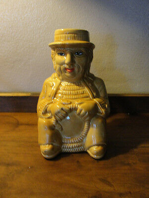 antique,very rare,old time Moses Butterworth, Toby #9 pitcher, Yozie Mold, gold
