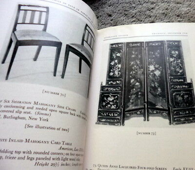 1939 ENGLISH XVIII CENTURY FURNITURE DECORATIONS Parke-Bernet NY Auction Catalog
