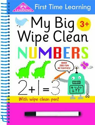 First Time Learning Big Wipe Clean- Numbers by Kay Massey Book The Cheap Fast