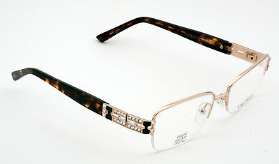 79bd8f6d5ab Caviar 4875 Eyeglasses Semi-Rimless C21 Gold Brown Frames Authentic New