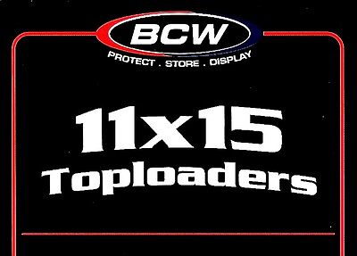 10 BCW 11X15 Top Load Holders Rigid Plastic Toploaders Photo Document Print Menu
