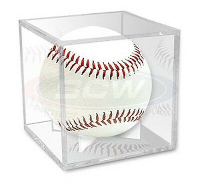 Pro Mold Baseball Cube Display Holder with Ball Cradle UV Protected Grandstand