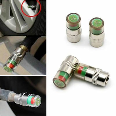 4PC Car Tyre Valve Caps Wheel Pressure 30-32-36 PSI Tire Air Sensor Dust Monitor