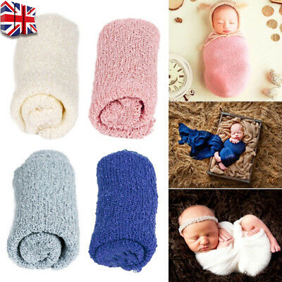 Newborn Baby Girl Boy Crochet Knit Wrap Cocoon Swaddle Photography Photo Props Y