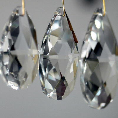 10 x Clear Waterdrop Crystal Glass Beads Chandelier Xmas Ornaments Decor