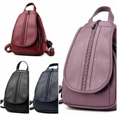 Fashion Women Backpack Genuine Leather Travel Bag College Preppy Style For Girl