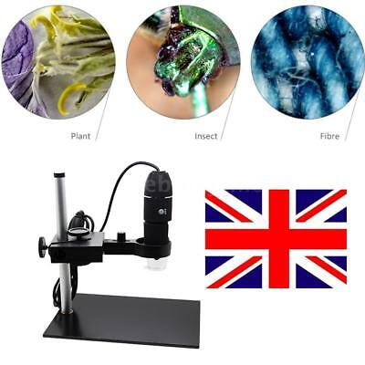 1000x Magnification Digital Microscope Built-In 8 LED Base Stand Holder USB X8P6