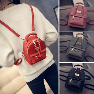 Women's Faux Leather Convertible Small Mini Backpack Rucksack Cute bag Purse