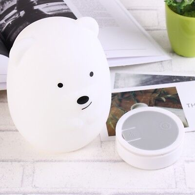 Portable Baby Night Light LED 8 colors Lamp with Remote Control & Rechargeable