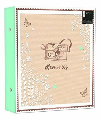 Large Ringbinder Photo Album 500 Photos Memories Holds 6x4 Photos - Designed Wit