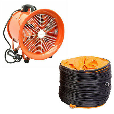 Portable Ventilator Axial Blower Workshop Ducting Extractor Industrial Fan 12""