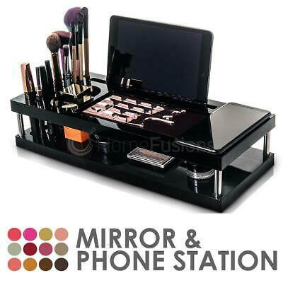 Beauty Tutorial Station Acrylic Cosmetic Makeup Organizer Drawers Storage Case