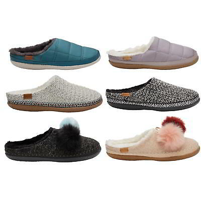 e9f51c1fadf Toms Ivy Womens Ladies Vegan Indoor Outdoor Slippers Mules House Shoes Size  5-8