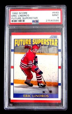 1990-91 Eric Lindros 90-91 Score Rookie Rc Card #440 **psa 9**
