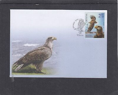 Lithuania 2011 Birds of Prey Osprey First Day Cover FDC Vilnius pictorial h/s