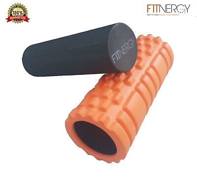 2 in 1 Self Massage Foam Roller by F1TNERGY Trigger Point Extra Firm High Densit