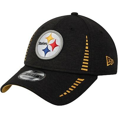 48dd66769f36c Pittsburgh Steelers New Era 9Forty Adjustable Speed Black Hat - Free Ship
