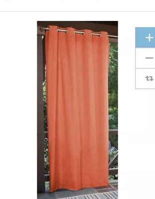 Allen And Roth Indoor Outdoor Grommet Panel Curtains Coral 45 00