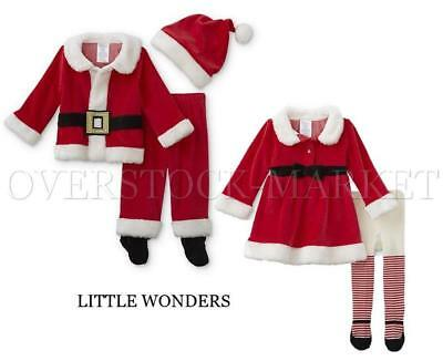 New! Little Wonders Infant Boys & Girls Santa Clause Sets! 2 & 3 Pc Set! Variety