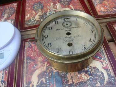 Vintage Clock parts Just Empty Case For Marine Ship Movement For Spare Or repair