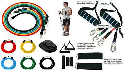 Exercise Resistance Bands 11 Piece set with basic instruction