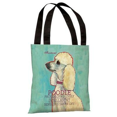 One Bella Casa 71028TT18P 18 in. Poodle 2 Polyester Tote Bag by Ursula Dodge