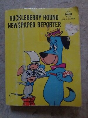 Hanna Barbera's Huckleberry Hound Newspaper Reporter Illustrated PB Book 1977