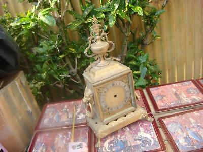 Vintage Clock parts Just Empty Case  For Spare Or repair  one  side missing