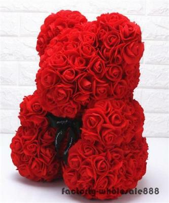 45CM Big Teddy Bear Red Rose Flowers Toys Valentine Wedding Gift Birthday Pillow