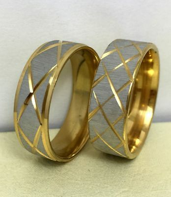 50Pcs Gold star line band stainless steel rings men womenrings wholesale Job Lot