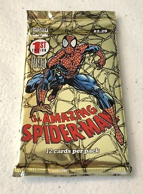 1st Edition Marvel 1994 Amazing Spider-Man Trading Cards 12 Card Pack
