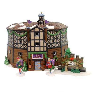 Department 56 House OLD GLOBE THEATRE SET / 4 Dickens Historical Landmark 58501