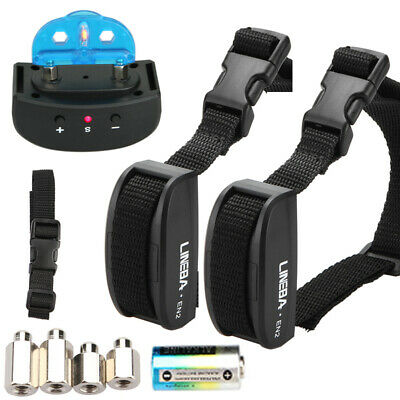 2x Anti Bark No Barking Remote Electric Shock Vibration Dog Pet Training Collar