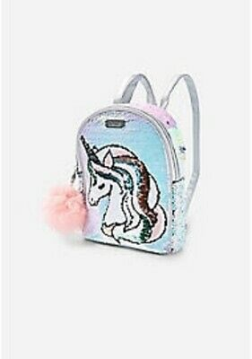 NWT Justice Girls Pastel Initial Flip Sequin Mini Backpack Initial A K S