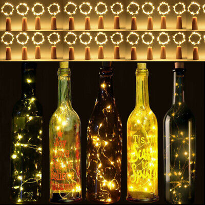20 LED 2M Wine Bottle Cork Shaped String Lights Night Fairy Light Outdoor Xmas