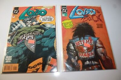 Dc Comics Lobos Back  #1 May 1992 & ,  Lobo  #1 Dec 1993  Nm