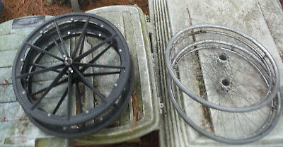 Pick One / Set of 2 Wheel Chair Wheels for Repurpose Cart