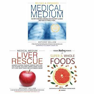 Medical Medium Liver Rescue Hidden Healing Powers 3 Books Collection Set NEW