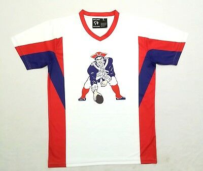 35e6309b4 NEW ENGLAND PATRIOTS RETRO THROWBACK LOGO BASEBALL JERSEY XXXXL sz 64 4X
