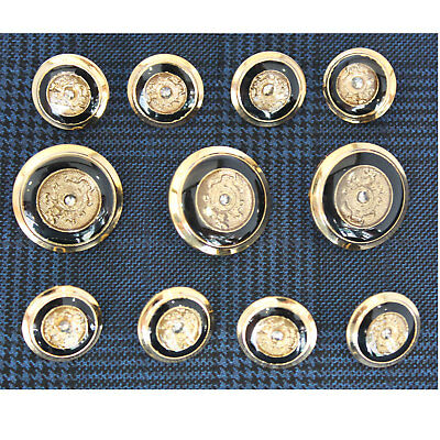 8pc 15mm Snake and Sheild Gold Metal Military Blazer Button   2097